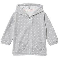 United Colors of Benetton Polkadot Velour Hoodie Grey Musta