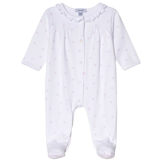 Absorba White and Pink Spot Frilled Footed Baby Body 31
