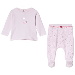 Absorba Pink Heart Print Tee and Bottoms Set