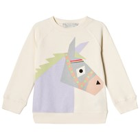 Stella McCartney Kids Betty Donkey Print Tröja Cream 9232