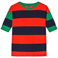 Stella McCartney Kids Red and Navy Celestia Jersey Dress 3065