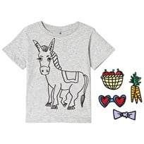 Stella McCartney Kids Grey Donkey Arlo Tee 1461