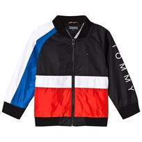 Tommy Hilfiger Black Colour Block Flag Bomber Jacket 062
