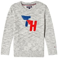 Tommy Hilfiger Grey Heather Ame Fun Towelling Branding Sweater 060
