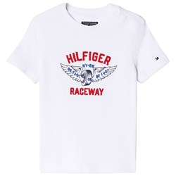 Tommy Hilfiger White Raceway Applique Branded Tee