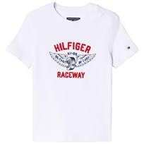 Tommy Hilfiger White Raceway Applique Branded Tee 123