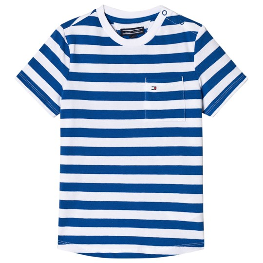 Tommy Hilfiger Blue Stripe Bright Pique Tee 493