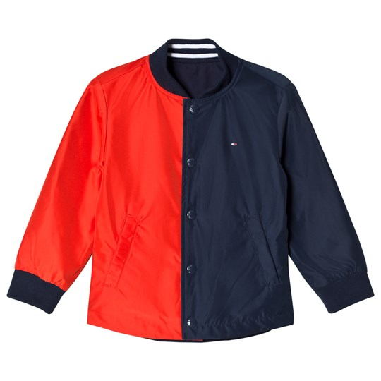 Tommy Hilfiger Navy and Red Reversible Cracker Jacket 002