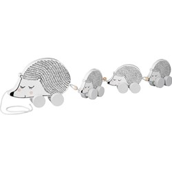 Bloomingville White Hedgehog Pull-Along Toy