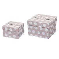 Bloomingville Storage Box, Rose, Cardboard Multi