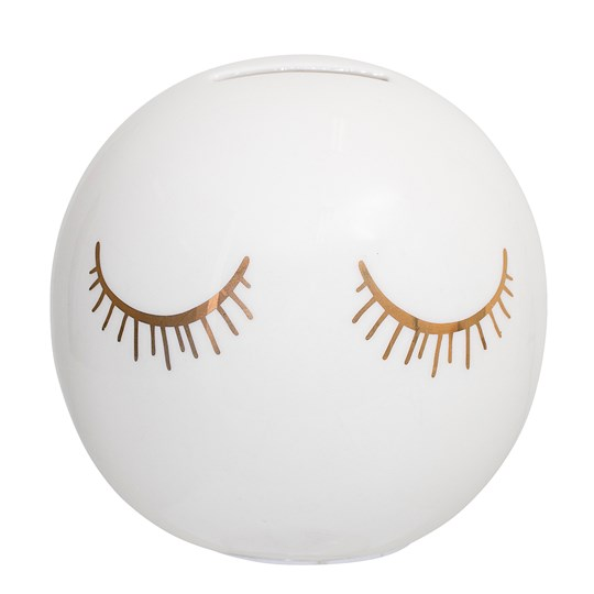 Bloomingville Audrey Money Bank, White, Ceramic White