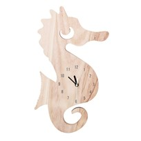 Bloomingville Wall Clock, Nature, Paulownia Beige