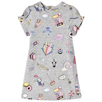 Little Marc Jacobs Grey Marl All Over Sweetie Print Dress A35