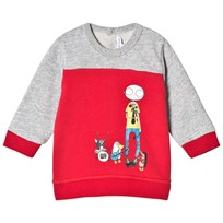 Little Marc Jacobs Red and Grey Marl Mr Marc and Friends Sweatshirt M79