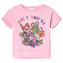 Little Marc Jacobs Pink Miss Marc Branded Sweeties Print Tee 465