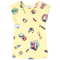 Little Marc Jacobs Yellow Multi Sweetie, Branded and Space Sweat Dress 537