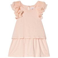 Chloé Light Pink Frill Shoulder Embroidered Dress 438