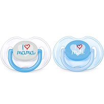 Philips Avent Fashion Soother 0-6M 2 Pack Blue Multi