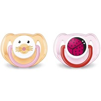 Philips Avent Animal Soother 6-18M 2 Pack Pink Multi