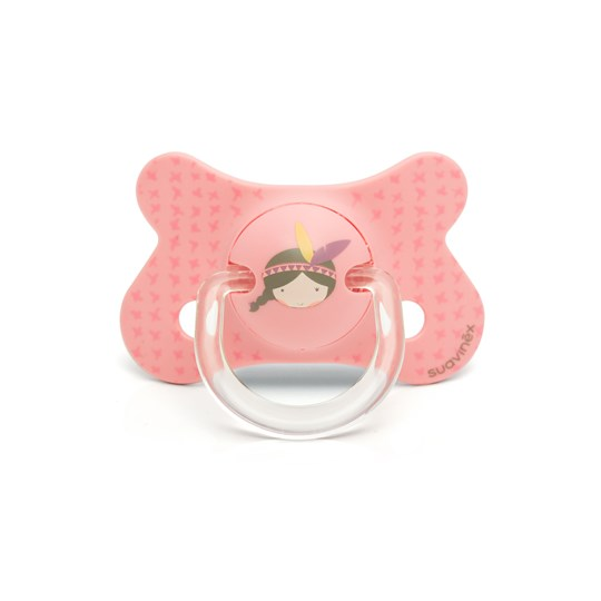 Suavinex Fusion Anatomical Silicone Pacifier 4-18m Pink Indian Pink Indian