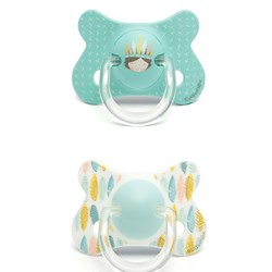 Suavinex Fusion Anatomical Latex Pacifier +18m Blue Indian (2 Pack)
