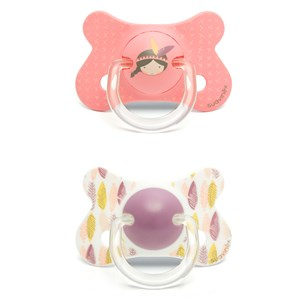 Image of Suavinex Fusion Anatomical Latex Pacifier +18m Pink Indian (2 Pack) (2946986459)