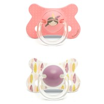 Suavinex Fusion Anatomical Latex Pacifier +18m Pink Indian (2 Pack) Pink Indian