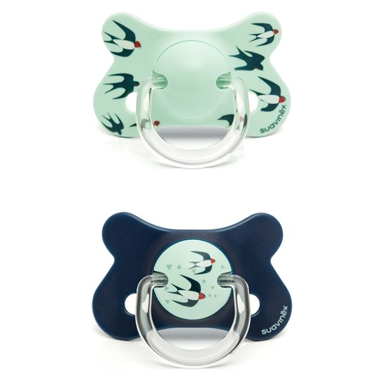 Suavinex Fusion Anatomical Latex Pacifier +18m Blue Swallow (2 Pack) Bue Swallow