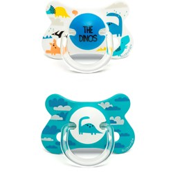Suavinex Fusion Anatomical Silicone Pacifier +18m Blue Dino (2 Pack)