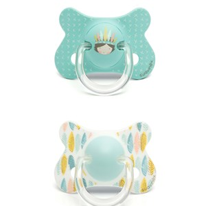 Image of Suavinex Fusion Anatomical Silicone Pacifier +18m Blue Indian (2 Pack) (2946986639)
