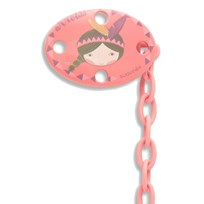 Suavinex Oval Pacifier Clip Pink Indian Pink Indian