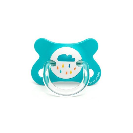 Suavinex Fusion Anatomical Latex Pacifier 2-4m Blue Blue Dino