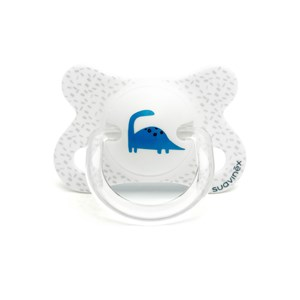 Image of Suavinex Fusion Physiological Silicone Pacifier 2-4m White Dino (2946986669)