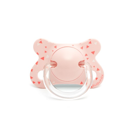 Suavinex Fusion Physiological Silicone Pacifier 2-4m Pink Pink Swallow