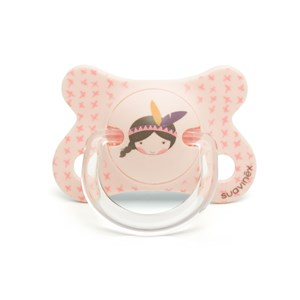 Image of Suavinex Fusion Physiological Silicone Pacifier 2-4m in Pink Indian (2946986673)