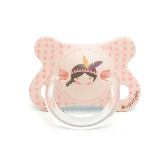 Suavinex Fusion Physiological Latex Pacifier 2-4m Pink Indian Pink Indian