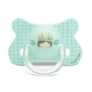 Image of Suavinex Fusion Anatomical Latex Pacifier 4-18m Blue Indian (3065505001)