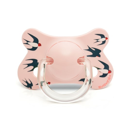 Suavinex Fusion Physiological Latex Pacifier 4-18m Pink Swallow Pink Swallow