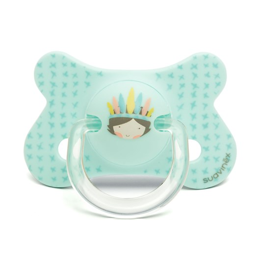 Suavinex Fusion Physiological Silicone Pacifier 4-18m Blue Indian Blue Dino