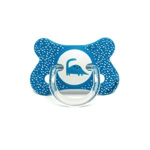 Image of Suavinex Fusion Physiological Silicone Pacifier 4-18m Blue Dino (2946986689)