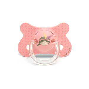 Image of Suavinex Fusion Physiological Silicone Pacifier 4-18m Pink Indian (3065505009)