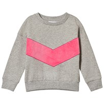 Gardner and the gang The Classic Sweatshirt Superhero Applique Grey Pink GREY PINK