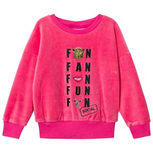 Image of Gardner and the gang The Classic Velour Sweatshirt Social Fan Club Candy Pink 1-2 år (2947790145)