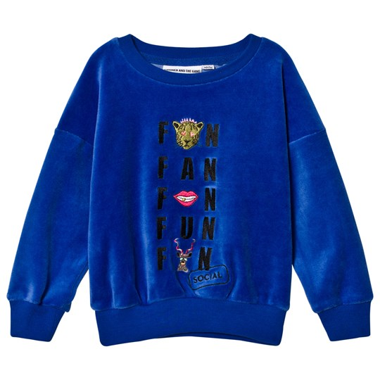 Gardner and the gang The Classic Velour Sweatshirt Social Fan Club Navy Blue Navy Blue