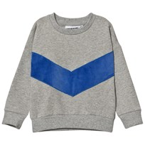 Gardner and the gang The Classic Sweatshirt Superhero Applique Grey Blue GREY BLUE