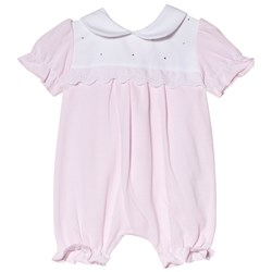 Mintini Baby Pink and White Romper