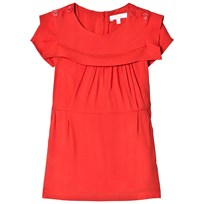 Chloé Red Twill Sailor Collar Dress 96A