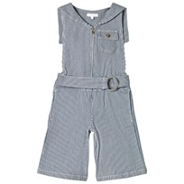 Chloé Striped Poplin Lining Denim Jumpsuit 848
