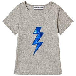 Gardner and the gang The Cool Tee Bolt Applique Heather Grey
