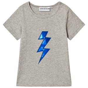 Image of Gardner and the gang The Cool Tee Bolt Applique Heather Grey 9-12 mdr (1063024)